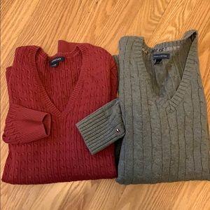 Tommy Hilfiger and lands end sweater bundle